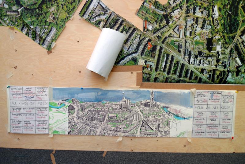 Image 01 map for Alasdair gray hillhead mural